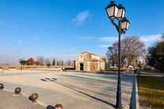 圣胡安de BaA±oss Visigothic教会 免版税库存照片