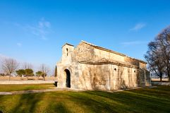 圣胡安de BaA±oss Visigothic教会 免版税库存图片