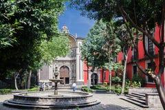 圣胡安de Dios Church墨西哥城 免版税图库摄影
