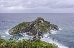 圣胡安de Gaztelugatxe, Bizkaia (西班牙) 库存图片