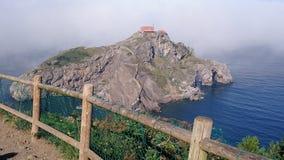 圣胡安de Gaztelugatxe& x27; s城堡 库存照片