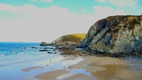 圣艾格尼丝岛是一个民用教区和一个大村庄康沃尔郡,英国北海岸的, 库存照片