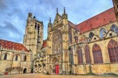 圣艾蒂安大教堂在桑斯-法国 库存照片