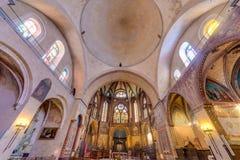 圣艾蒂安天主教徒在卡奥尔,法国 免版税库存图片