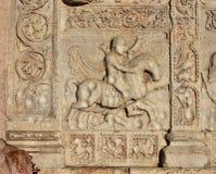 从圣芝诺大教堂门户的Theoderic狩猎 免版税库存照片