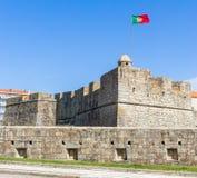 圣若昂da福兹堡垒在波尔图,葡萄牙 免版税库存图片