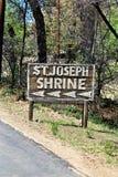 圣若瑟山, Yarnell,亚利桑那,美国寺庙  图库摄影