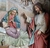 圣若瑟死亡  免版税库存照片
