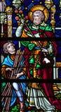 圣若瑟-彩色玻璃 图库摄影