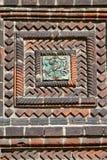 圣若翰洗者斩首的寺庙的瓦片在雅洛斯拉夫尔,俄罗斯  免版税库存照片