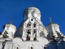 圣若翰洗者斩首的教会在村庄Djakovo (16世纪), Kolomenskoye,莫斯科 免版税库存照片