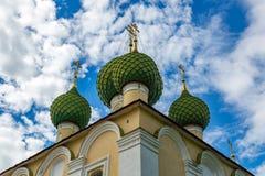 圣若翰洗者17世纪, Uglich,俄罗斯斩首的教会  库存照片