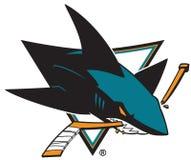 圣荷西鲨鱼商标 免版税库存图片