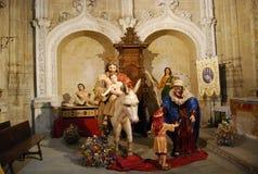 圣荷西,玛丽亚,耶稣,驴 免版税库存照片
