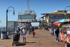 圣莫尼卡码头 免版税图库摄影