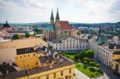 圣莫里茨大教堂在Kromeriz,捷克 库存图片