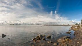 圣莱安德罗海湾 免版税库存照片