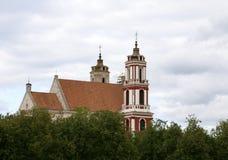 圣菲利普和圣詹姆斯,维尔纽斯教会  免版税库存照片