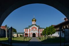 圣菲利普,从曲拱的看法教会  库存照片