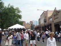圣菲广场新墨西哥印地安市场2015年 库存图片