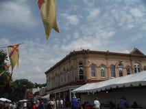 圣菲新墨西哥印地安市场2015年 库存照片