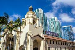 圣菲联合驻地在圣地亚哥 免版税库存照片