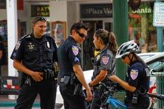 圣菲警察 免版税库存照片