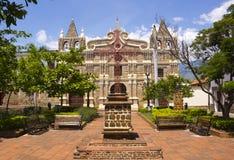 圣菲de安蒂奥基亚省,安蒂奥基亚省,哥伦比亚- Iglesia de圣塔巴巴拉 免版税库存照片