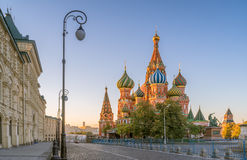 圣蓬蒿的大教堂的早晨视图在莫斯科 库存图片