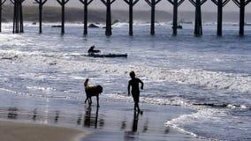 圣西梅昂海滩 库存照片