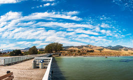 圣西梅昂码头在加利福尼亚,美国 免版税库存图片