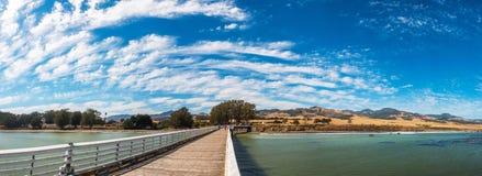 圣西梅昂码头在加利福尼亚,美国 库存照片