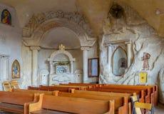 圣西蒙` s身体,圣徒Samaan遗骸坦纳修道院 免版税库存照片