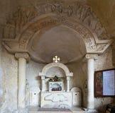 圣西蒙` s身体,圣徒Samaan遗骸坦纳修道院 免版税库存图片