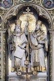 圣西里尔和Methodius法坛在萨格勒布大教堂里 图库摄影