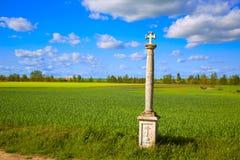 圣詹姆斯十字架专栏方式在帕伦西亚 免版税库存照片