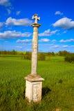 圣詹姆斯十字架专栏方式在帕伦西亚 库存照片
