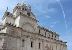 圣詹姆斯大教堂, Sibenik,克罗地亚 库存照片