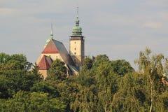 圣詹姆斯教会在伊赫拉瓦河 免版税库存图片