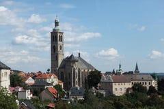 圣詹姆斯教会在Kutna Hora,捷克 免版税图库摄影