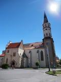 圣詹姆斯教会在Levoca 库存图片