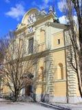 圣詹姆斯教会,卢布尔雅那,斯洛文尼亚 库存照片