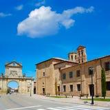 圣詹姆斯方式利昂西班牙萨阿贡中部  免版税库存图片