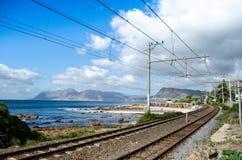 圣詹姆斯海滩, Kalk海湾,开普敦,南非 免版税库存图片