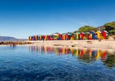 圣詹姆斯潮汐水池 非洲海角南城镇 免版税库存照片