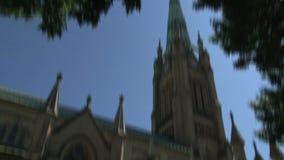 圣詹姆斯,多伦多安大略,加拿大大教堂教会  股票视频