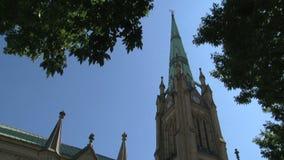 圣詹姆斯,多伦多安大略,加拿大大教堂教会  股票录像