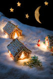 圣诞前夕在蜂蜜cacke村庄 库存图片