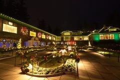 圣诞前夕在Butchart庭院里 免版税库存图片