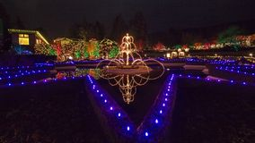 圣诞前夕在Butchart庭院里 免版税图库摄影